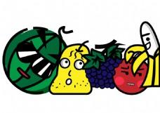 水果卡通矢量素材元素