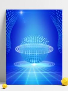 原创蓝色科技背景地球世界背景