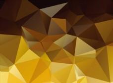 金色底多边形