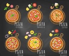 復古手繪披薩菜單模板