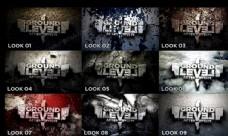 9款不同质感的3D文字标题片头