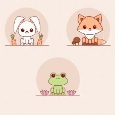 动物兔子狐狸青蛙