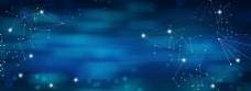 蓝色科技商务会议背景