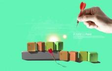 商务键盘办公海报 创意键盘广告