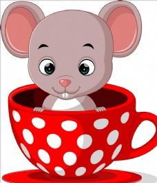 可爱卡通老鼠