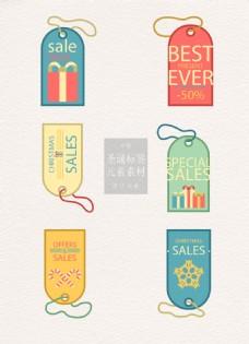 彩色的圣诞标签素材