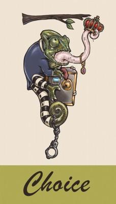 蜥蜴卡通商业插画设计