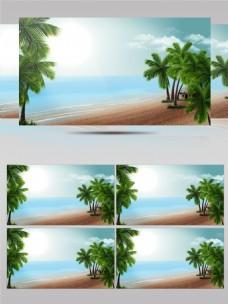 大海沙滩度假风视频素材