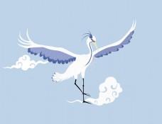 仙鸟之古风元素绘画插画