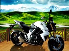 摩托车  素材 广告设计