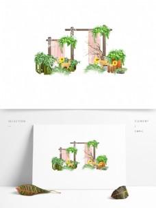 简约创意植物小清新园艺元素设计