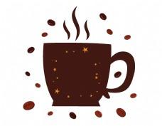 卡通星光咖啡元素