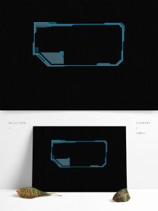 蓝色科技边框可商用元素