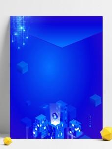 蓝色3D立体科技数码背景