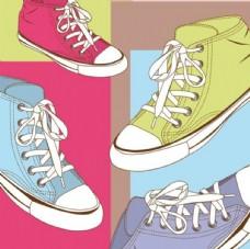 运动鞋球鞋矢量素材
