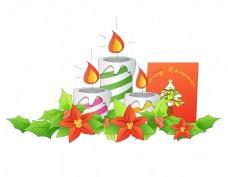 卡通圣诞节蜡烛元素