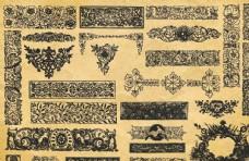 手绘复古花纹