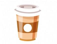 卡通简易咖啡杯元素