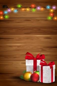 礼品冬天圣诞节宣传背景