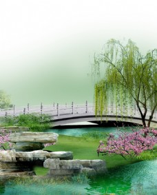 小桥流水 山水