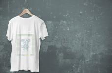 白色短袖tshirts样机
