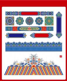 中式古典彩画古建彩绘