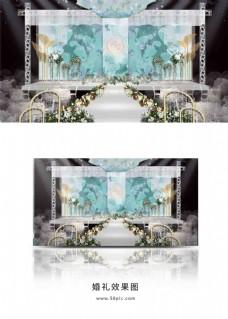 森系婚礼主舞台效果图