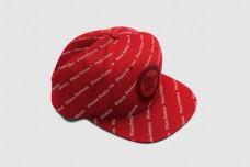 红色鸭嘴帽样机模板