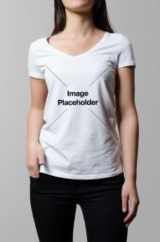 女士t恤样机模板