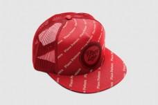 红色帽子样机psd