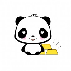 熊猫害羞黄金表情包表情设计