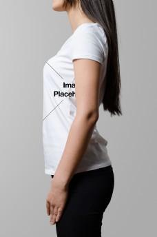 女士服饰t恤样机模板
