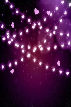 紫色led灯背景璀璨背景