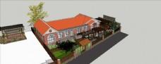 SKP房子  庭院  造型房子