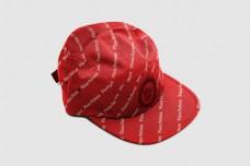 红色鸭嘴帽样机模板psd