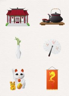 卡通创意中国风传统元素ai设计