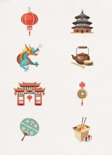 8组矢量中国风元素设计
