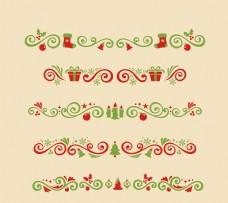 圣诞装饰品花纹矢量素材