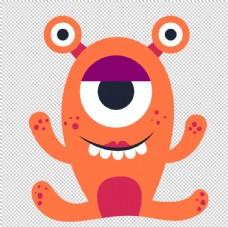 透明底小怪物