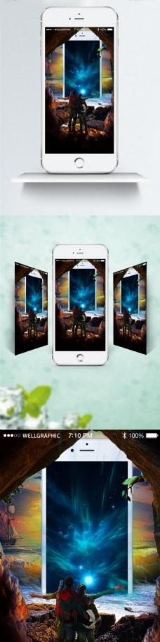 新年圣诞节电影海报合成宣传图展架移动手机
