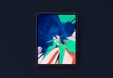 俯视平板电脑ipad样机