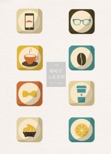 卡通的咖啡店图标素材