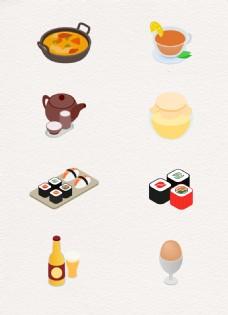 创意矢量美食元素卡通设计