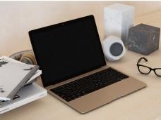 土豪金笔记本电脑样机模板