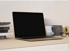 笔记本电脑书桌样机模板