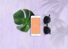 白色iphone手机样机模板