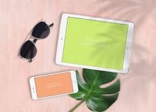 白色手机平板样机模板
