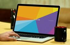 手提电脑笔记本样机模板