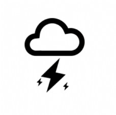雷暴 雷 图标 天气 气