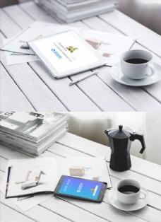 咖啡厅电子设备样机